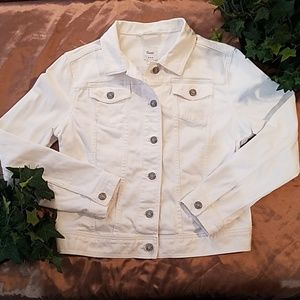 GAP White Denim Jacket